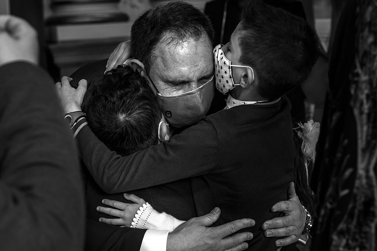 Emoción boda Ayuntamiento Valladolid